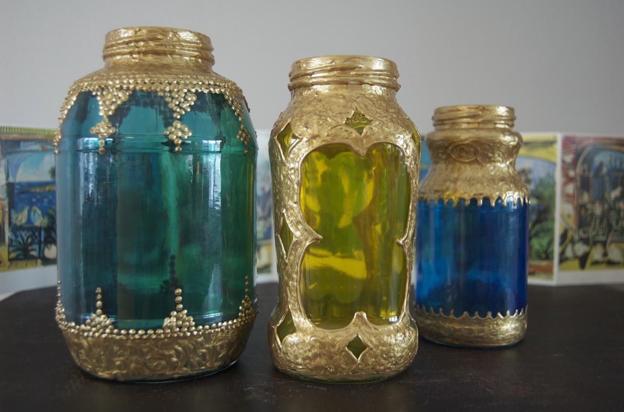 Diy spaghetti sauce jar moroccan lanterns for Diy lantern lights